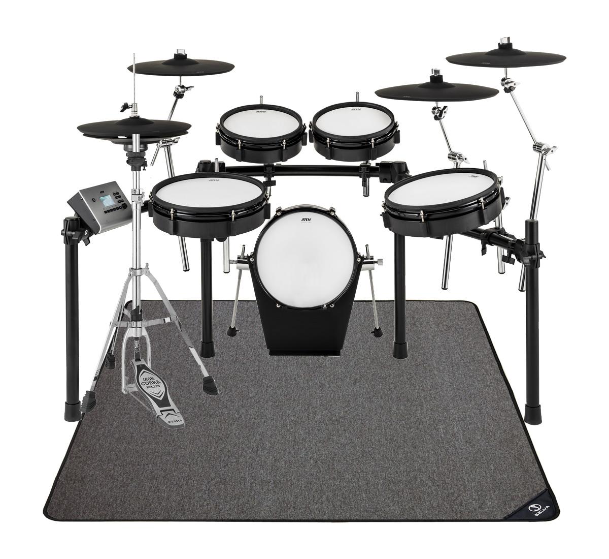 【在庫あります】ATV / EXS-5 電子ドラム ハイハットスタンドとオリジナルマットセット / キックペダル別売【ブラックフライデーセール品】