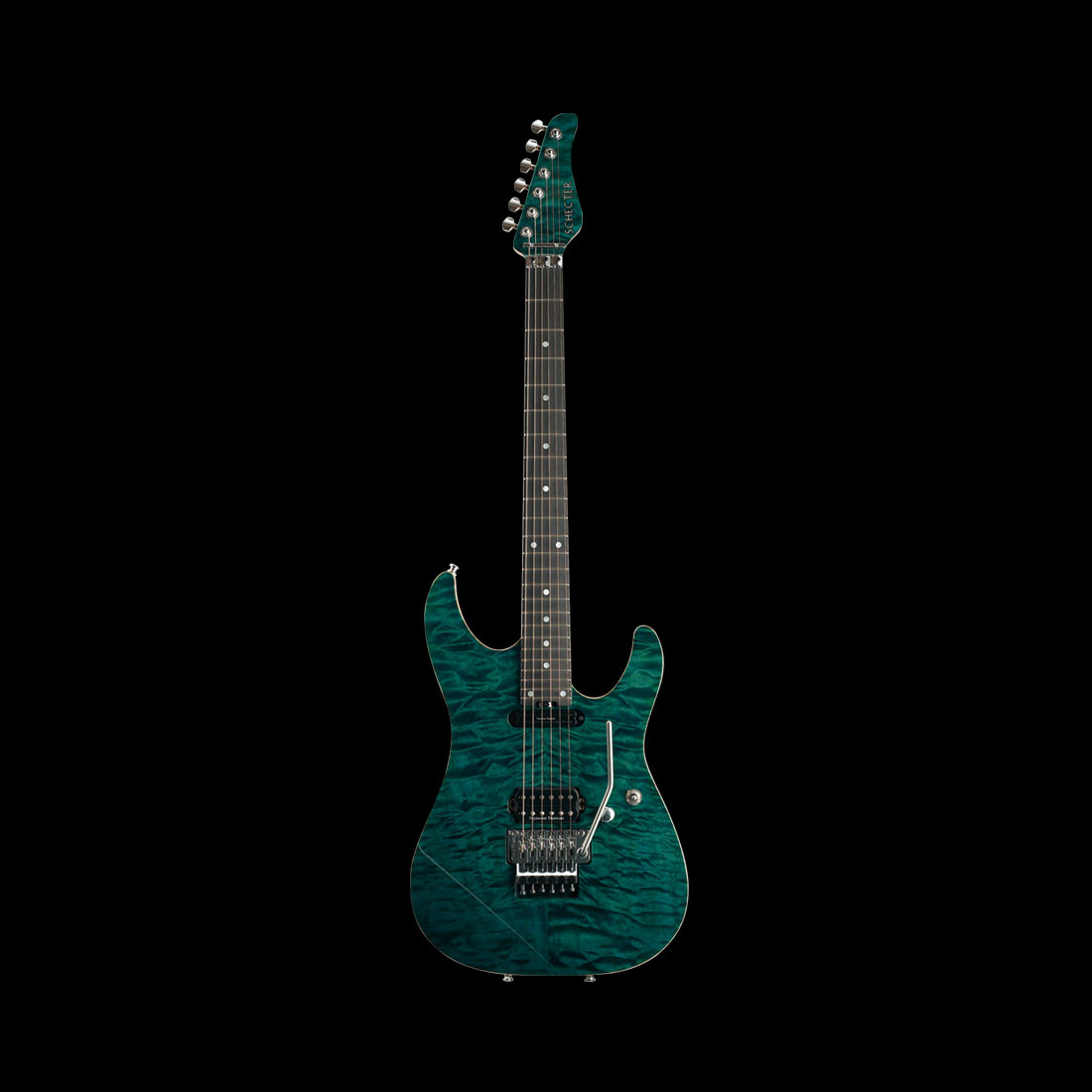 Schecter / AC-S6/SIG Black Turquoise シェクター エレキギター 小林信一シグネイチャー 《受注生産:予約受付中》