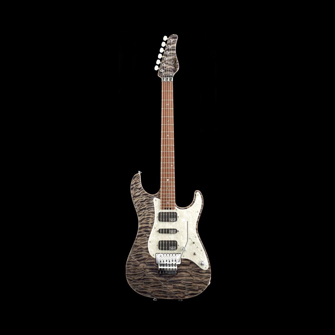 Schecter / EX-V-22-CTM-FRT R 5A Black Natural シェクター エレキギター 《完全受注生産:予約受付中》