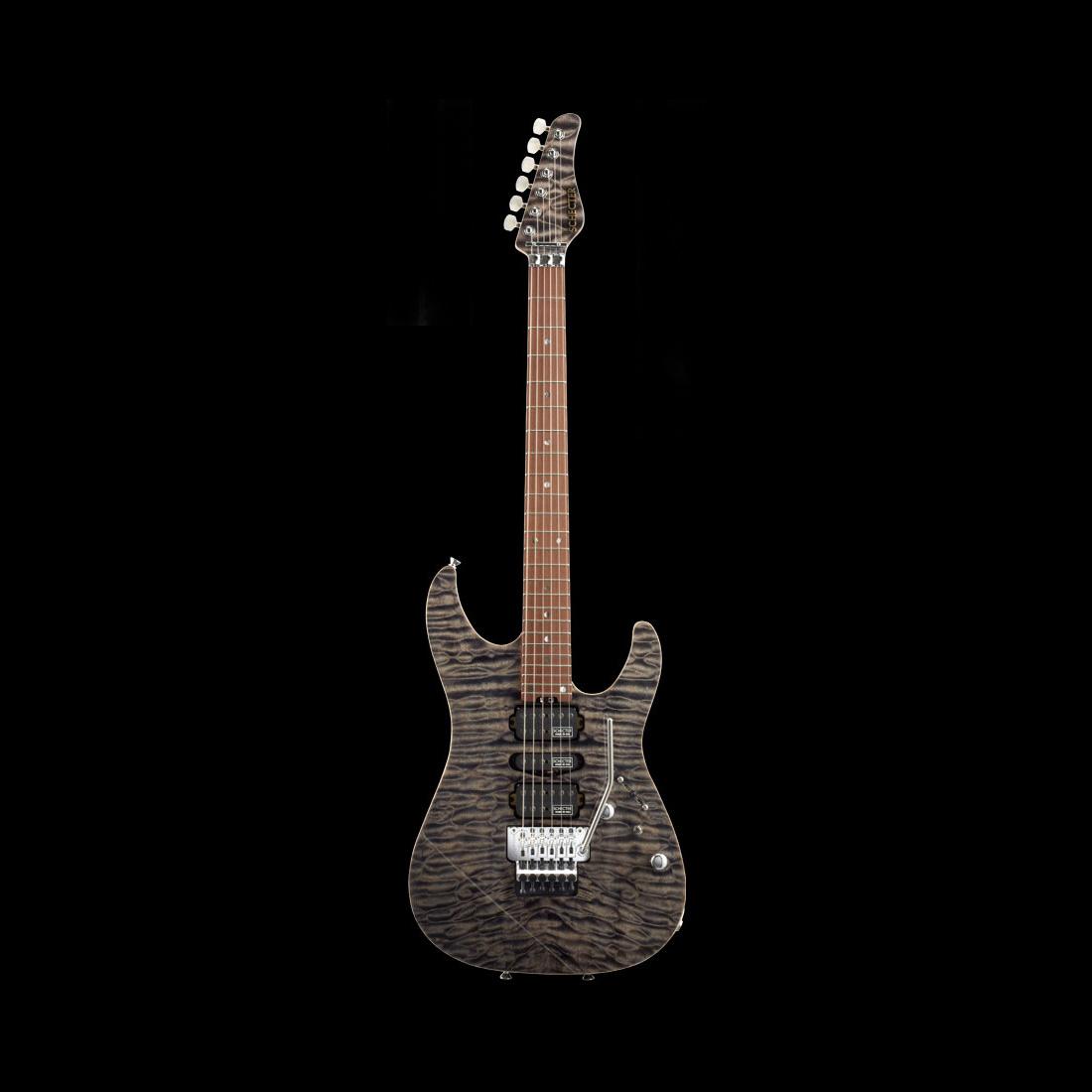 Schecter / EX-V-24-CTM-FRT R/NPG 5A Black Natural シェクター エレキギター 《完全受注生産:予約受付中》