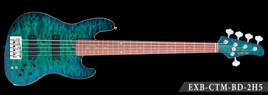 Schecter / EXB-CTM-BD-2H5 R 4A Deep Turquoise Blue Burst シェクター エレキベース 《受注生産:予約受付中》