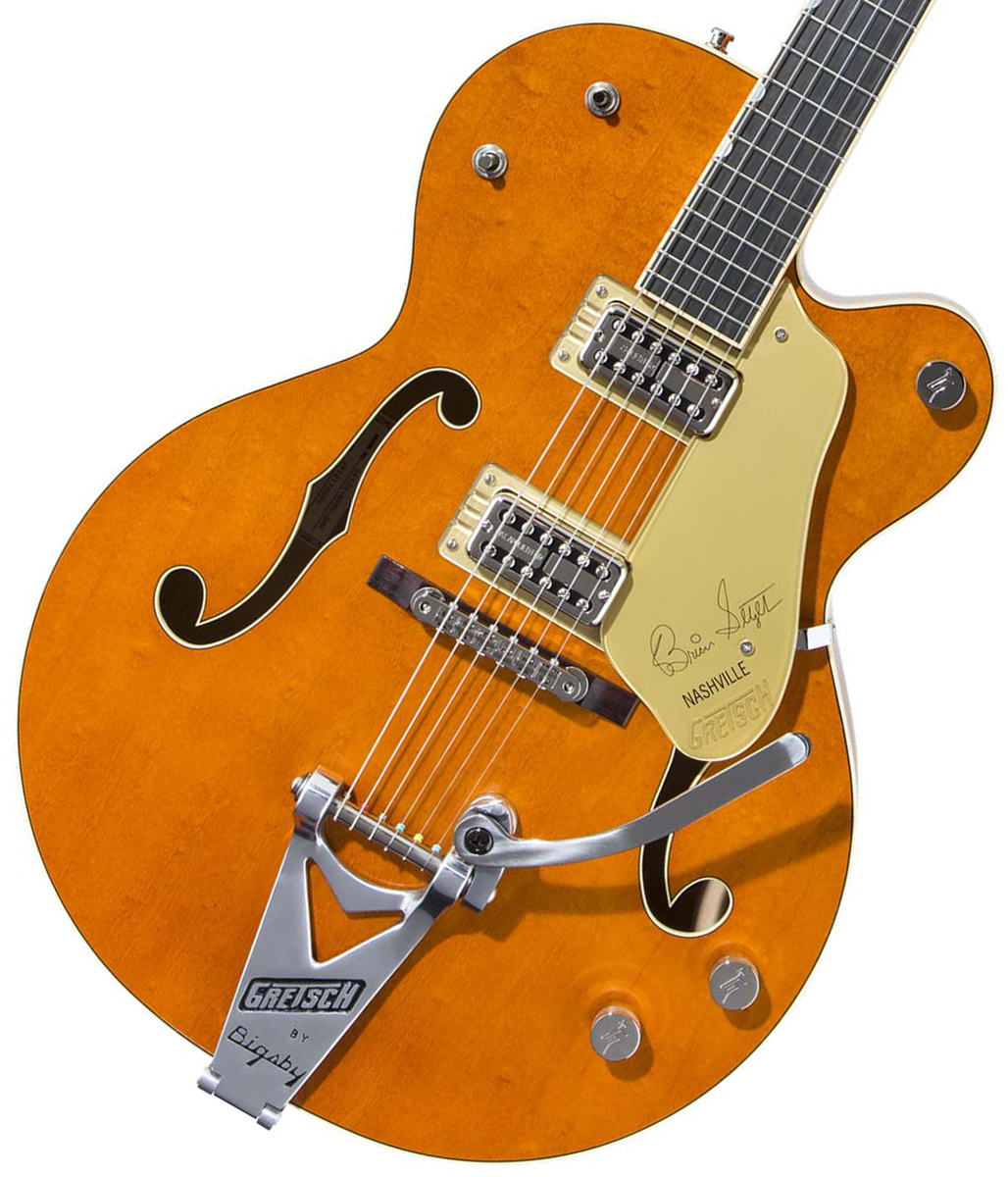 "Gretsch / G6120T-BSSMK Brian Setzer Signature Nashville Hollow Body '59 ""Smoke"" with Bigsby Smoke Orange グレッチ【お取り寄せ商品】"