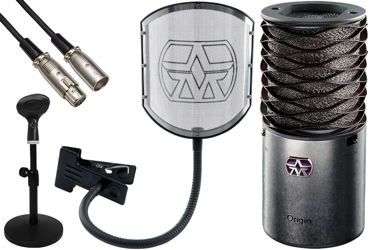 Aston Microphones アストンマイクロフォンズ / AST-ORIGIN(N)【純正ポップフィルター&卓上スタンド・ケーブルセット!】コンデンサーマイク【YRK】