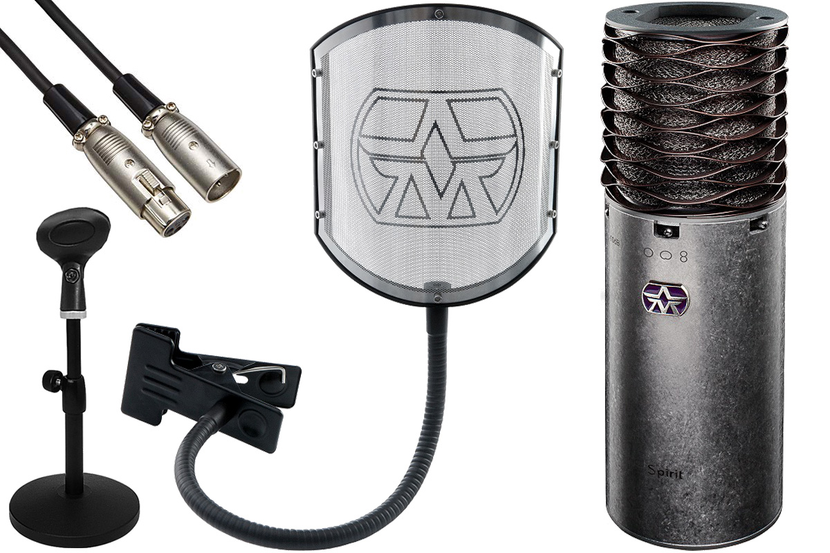 Aston Microphones アストンマイクロフォンズ / AST-SPIRIT(N)【純正ポップフィルター&卓上スタンド・ケーブルセット!】コンデンサーマイク【YRK】