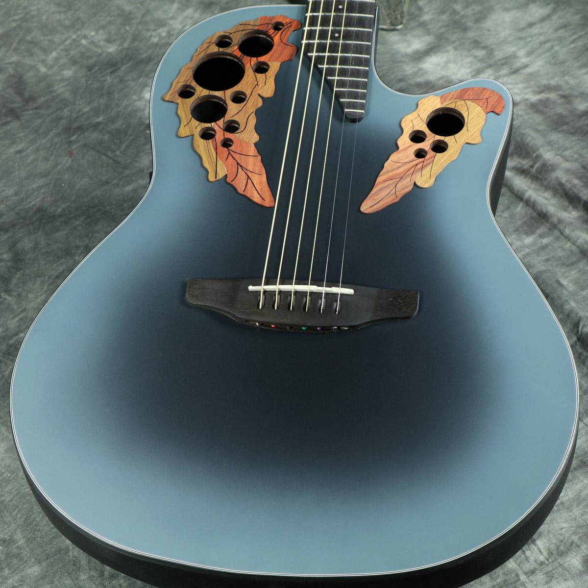 アダマスを髣髴とさせるセレブリティの限定モデル 在庫有り Ovation Celebrity Elite CE44-RBB Reverse Blue アコースティックギター 人気商品 《プレゼントあり CE-44 Burst エレアコ セレブリティ オベーション 正規品送料無料 +set79094》