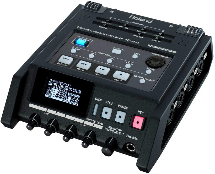 Roland ローランド / R-44 フィールドレコーダー (R44)(R-44E)《8GB SDカードつき:611328600》【YRK】