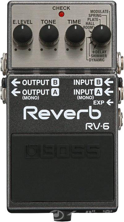 BOSS / RV-6 Reverb リバーブ《BOSSコンピンバッチ&銀ネジ風ネジプレゼント:SET79440》【YRK】《9Vマンガン電池2個プレゼント!/+681215700×2》