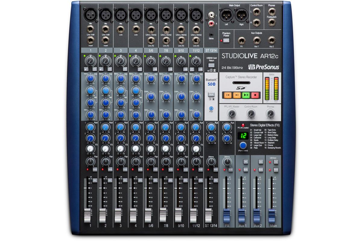 PreSonu プレソナス / StudioLive AR12c アナログ・ミキサー + 24Bit 96kHzオーディオI/O + SDレコーダー【お取り寄せ商品】
