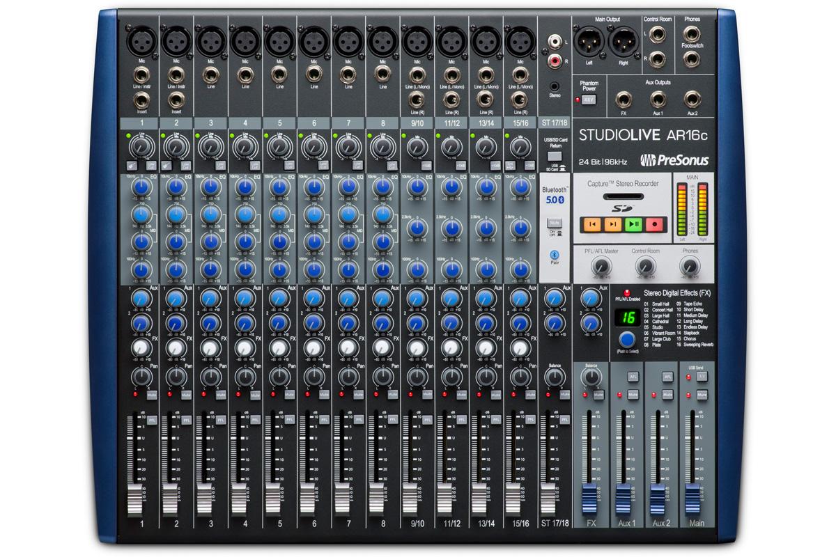 PreSonu プレソナス / StudioLive AR16c アナログ・ミキサー + 24Bit 96kHzオーディオI/O + SDレコーダー【お取り寄せ商品】