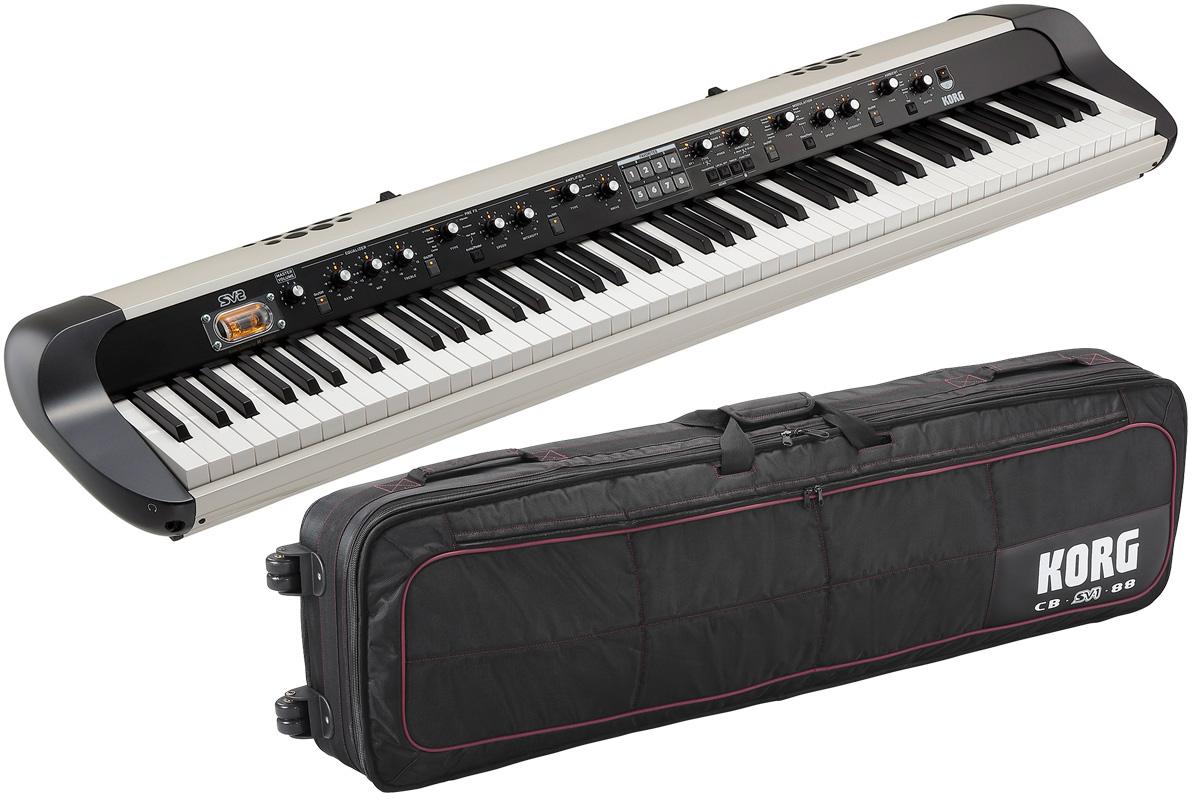 【タイムセール:31日12時まで】【在庫あり】KORG コルグ / SV2-88S【純正ケースセット!】88鍵盤ステージ・ビンテージ・ピアノ【YRK】
