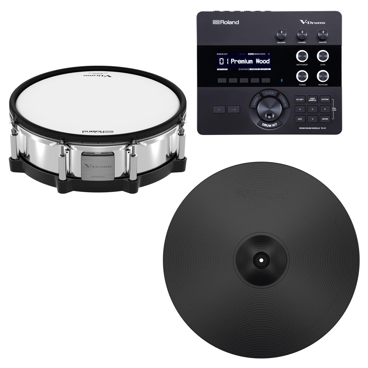 Roland / TD-27 ドラム音源モジュール PD-140DS CY-18DR デジタルパッドセット V-Drums Digital Pad Package【YRK】