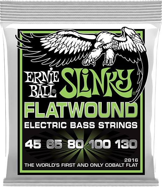 ERNiE BALL アーニーボール / SLINKY FLATWOUND 2816 5-Strings REGULAR フラットワウンド エレキベース弦