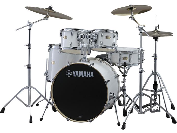 YAMAHA SBP2F5ZBT PWピュアホワイト ステージカスタム 22BD/スタンダードセット+ZBTシンバルセット【YRK】