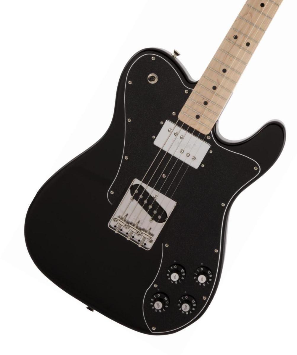 【タイムセール:29日12時まで】Fender / Made in Japan Traditional 70s Telecaster Custom Maple Fingerboard Black フェンダー《純正ケーブル&ピック1ダースプレゼント!/+661944400》【2020 NEW MODEL】