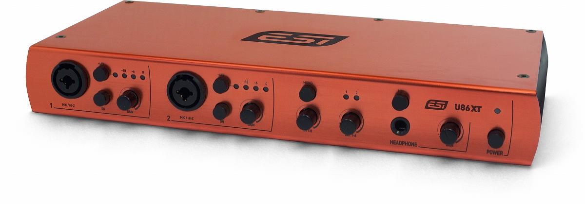 ESI Audiotechnik イーエスアイ / U86 XT 8in/6out USBオーディオインターフェース【お取り寄せ商品】