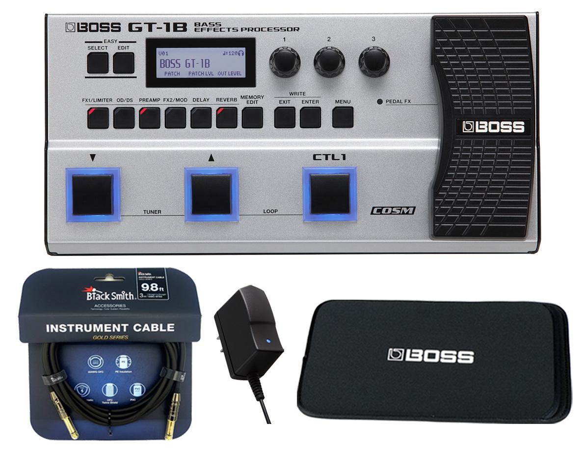 BOSS / GT-1B ベース用マルチエフェクター -純正ACアダプター、3m高音質ケーブル、ブリーフケース付【YRK】