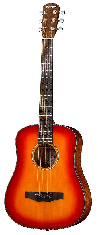【在庫有り】 Morris / LA-011 CS (チェリーサンバースト) 【PERFORMERS EDITION】 モーリス ミニ アコースティックギター フォークギター ミニギター LA011