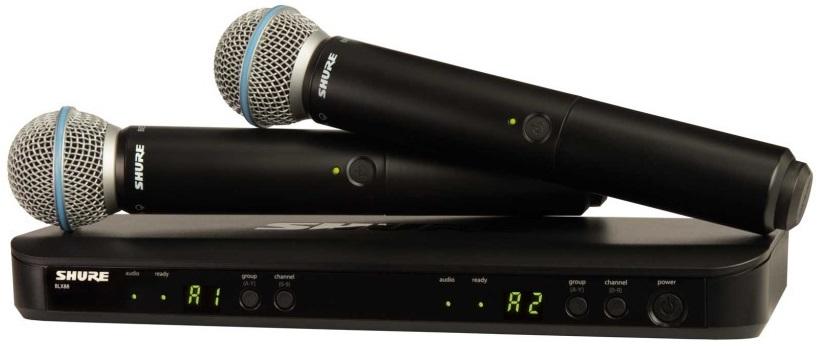Shure シュアー / BLX288/B58 BLX デュアルチャンネルハンドヘルドシステム【お取り寄せ商品】