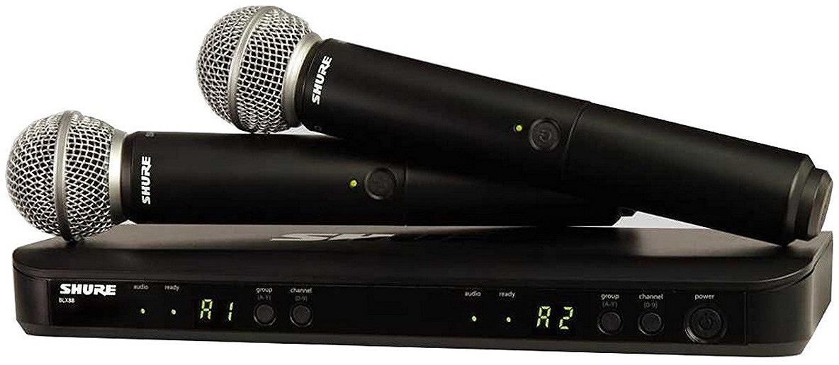 Shure シュアー / BLX288/SM58 BLX デュアルチャンネルハンドヘルドシステム【お取り寄せ商品】