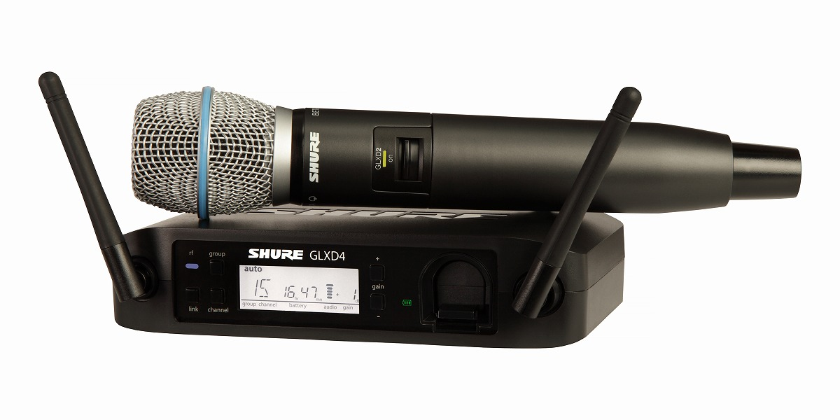 Shure シュアー / GLXD24/BETA87A GLX-D ハンドヘルド・ワイヤレスシステム【お取り寄せ商品】