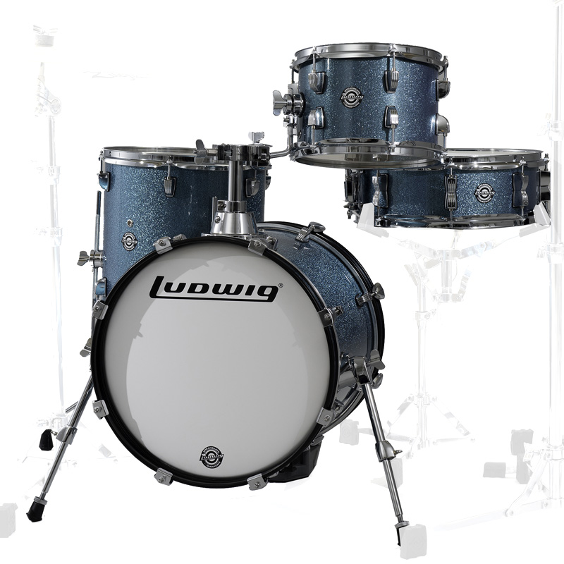 Ludwig LC179X023 BREAKBEATS AZURE BLUE SPARKLE ラディック 4点シェルキット