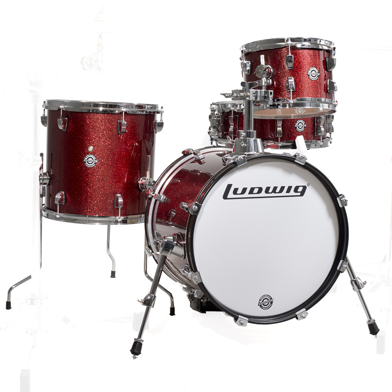 Ludwig LC179X025 BREAKBEATS Wine Red Sparkle ラディック 4点シェルキット