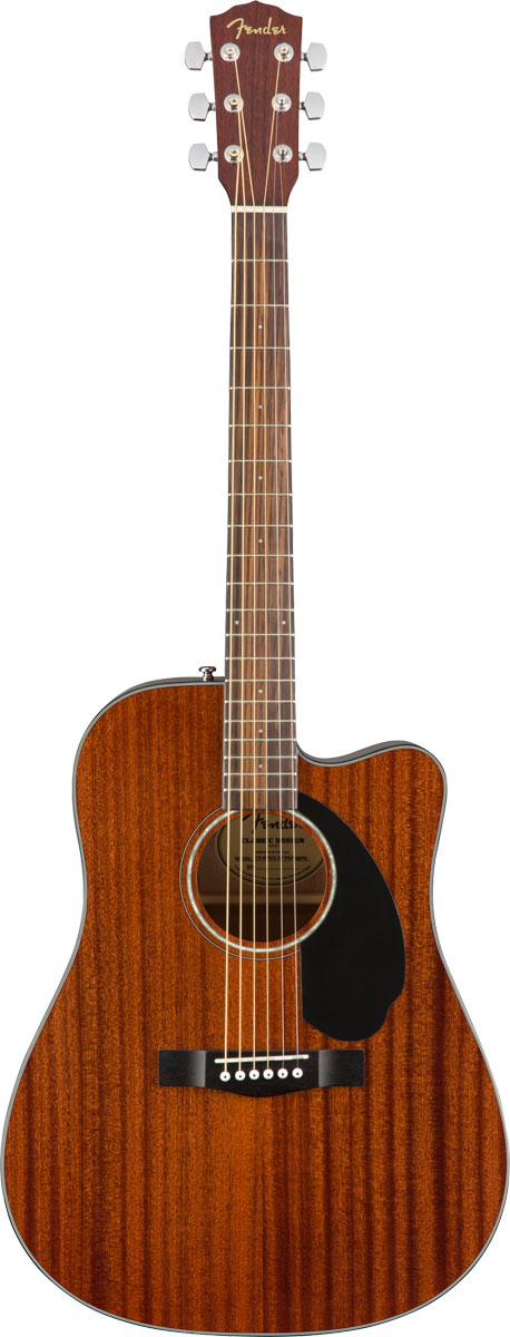 【在庫有り】 Fender Acoustic / CD-60SCE Dreadnought All-Mahogany 【単板Top/オールマホ】 フェンダー アコースティックギター エレアコ CD60SCE【YRK】
