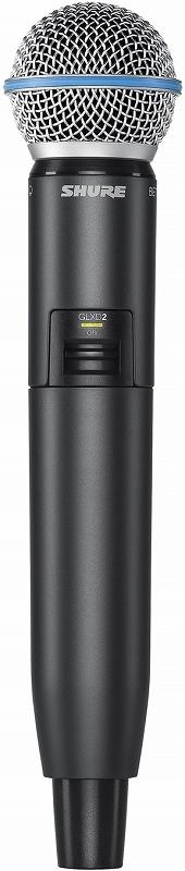 Shure シュアー / GLXD2/BETA58A ハンドヘルド型送信機【お取り寄せ商品】