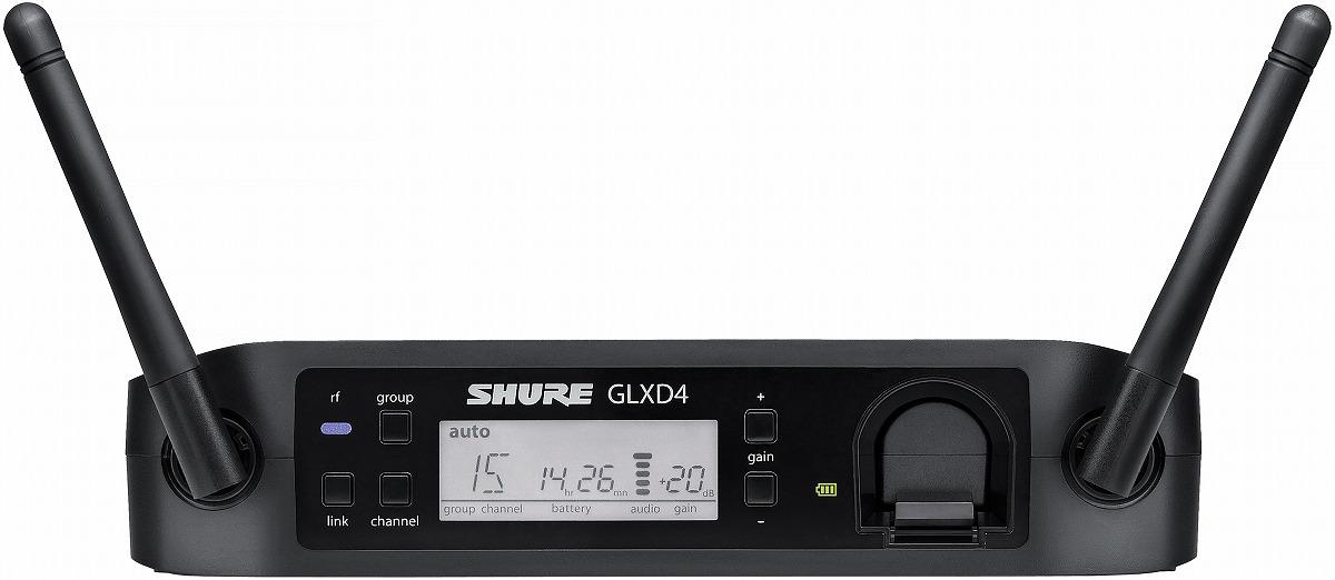 Shure シュアー / GLXD4 ワイヤレス受信機 【お取り寄せ商品】