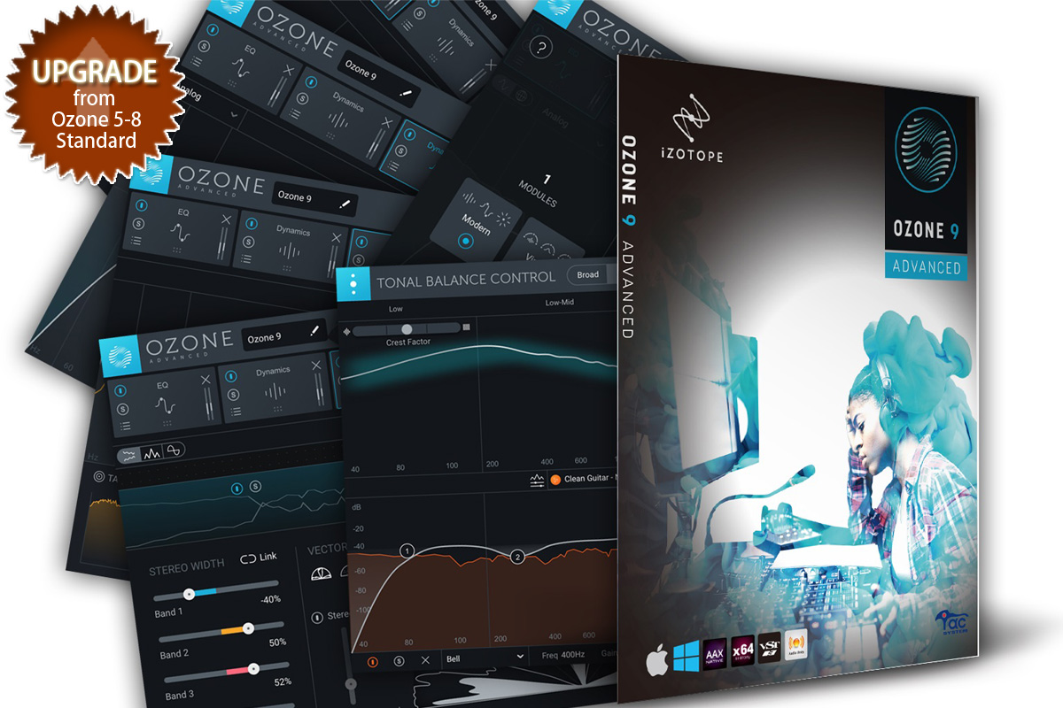 iZotope アイゾトープ / Ozone 9 Advanced: upgrade from Ozone 5-8 Standard【お取り寄せ商品】