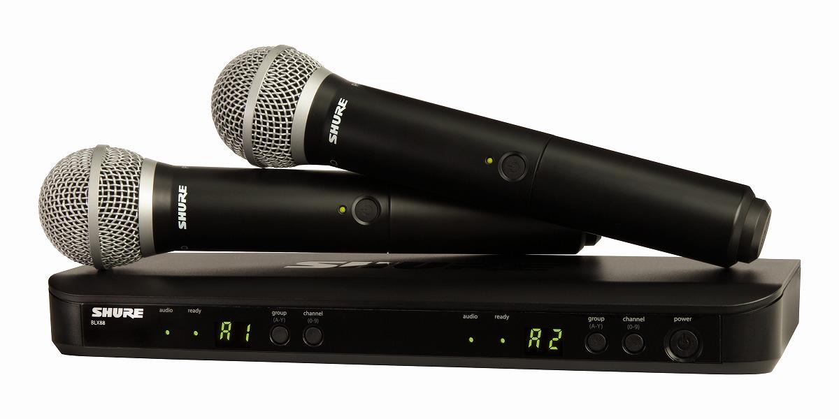 Shure シュアー / BLX288/PG58 デュアルチャンネル ハンドヘルド型 ワイヤレスシステム【お取り寄せ商品】
