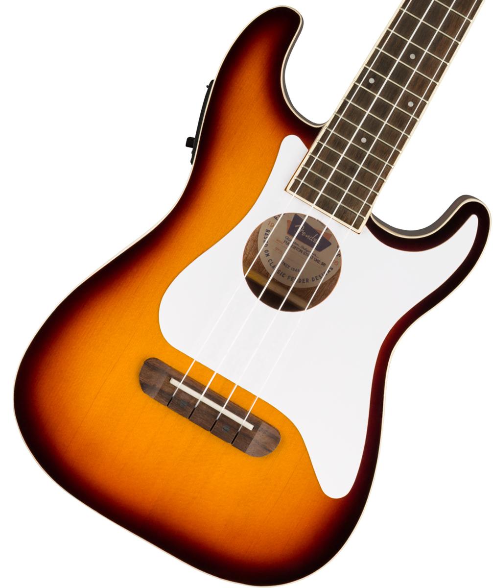 FenderのRock Spiritをウクレレでも表現したいプレイヤーに最適 在庫有り Fender 再再販 Fullerton Strat ウクレレ エレウク 新品 Uke フェンダー Sunburst