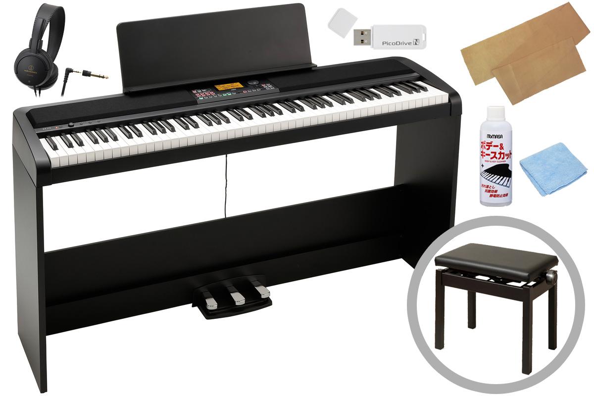 KORG コルグ / XE20SP【高低自在椅子セット!】デジタル・アンサンブル・ピアノ《キーカバー&お手入れセットプレゼント!》【PNG】