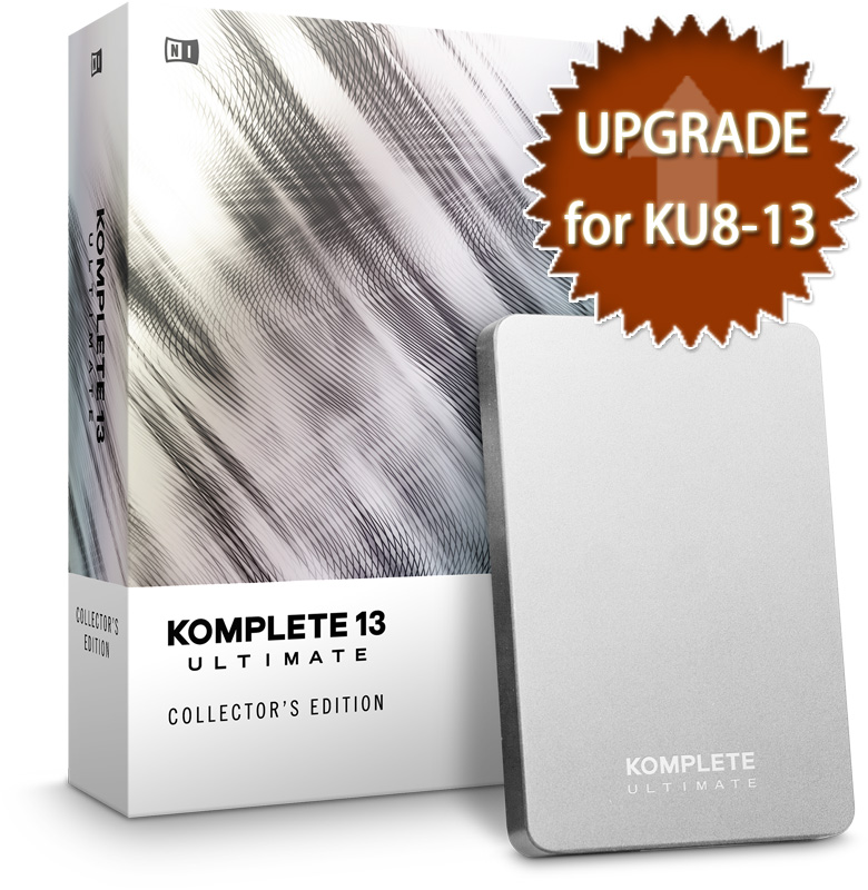 Native Instruments ネイティブインストゥルメンツ / KOMPLETE 13 ULTIMATE Collectors Edition UPG FOR KU8-13【アップグレード for KU8-13版】