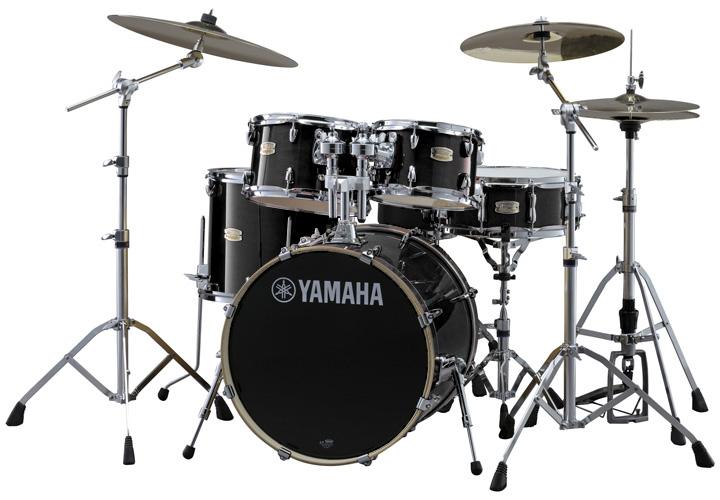YAMAHA ドラムセット SBP0F5AZM RBレーベンブラック ステージカスタム 20BD/スタンダードセット+Aジルジャン ミディアムシンバルセット【YRK】