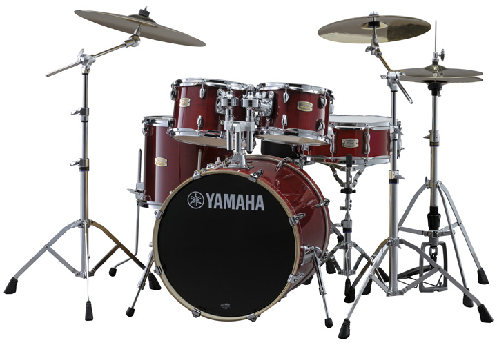 YAMAHA ドラムセット SBP0F5AZM CRクランベリーレッド ステージカスタム 20BD/スタンダードセット+Aジルジャン ミディアムシンバルセット【YRK】