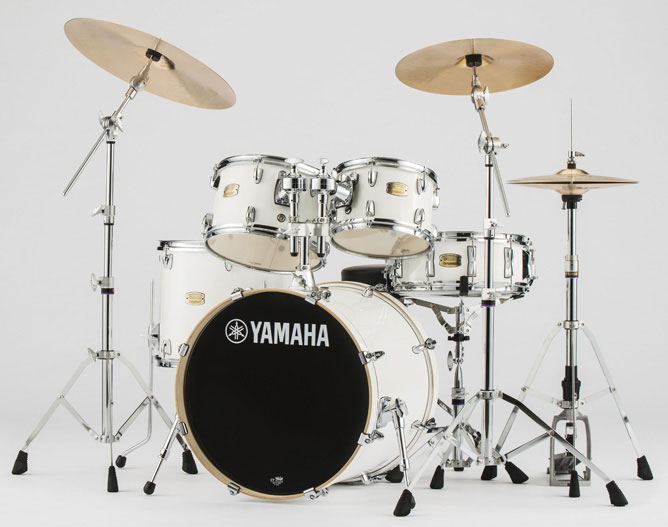 YAMAHA ドラムセット SBP0F5AZM PWピュアホワイト ステージカスタム 20BD/スタンダードセット+Aジルジャン ミディアムシンバルセット【YRK】