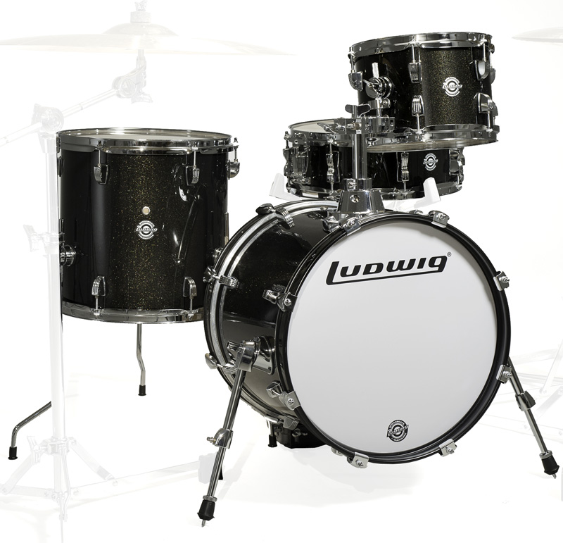 Ludwig LC179X016 BREAKBEATS BLACK GOLD SPARKLE ラディック ブレイクビーツ 小口径 4点シェルキット