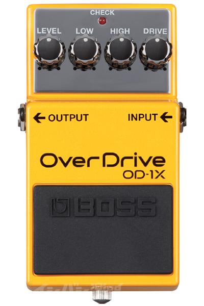 BOSS / OD-1X Over Drive【YRK】《9Vマンガン電池2個プレゼント!/+681215700×2》