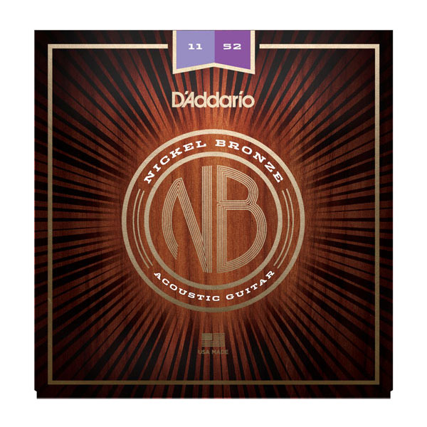 D'Addario / Nickel Bronze NB1152 Custom Light 11-52 アコギ弦【お取り寄せ商品】