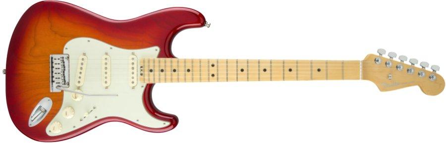 Fender USA フェンダー / American Elite Stratocaster Maple Fingerboard Aged Cherry Burst (Ash)《カスタムショップのお手入れ用品を進呈/+671038200》《フェンダー純正グッズを進呈/+79083》
