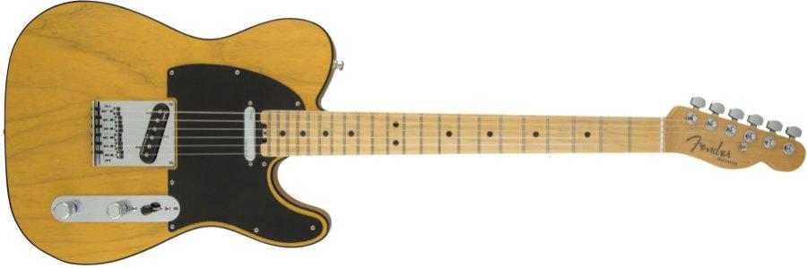 【タイムセール:7月2日12時まで】Fender USA フェンダー / American Elite Telecaster Maple Fingerboard Butterscotch Blonde《カスタムショップのお手入れ用品を進呈/+671038200》