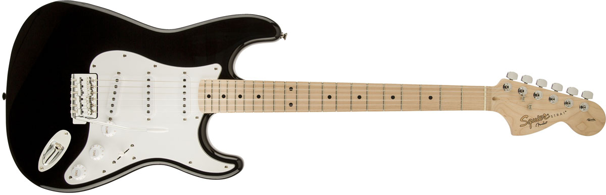 Squier by Fender / Affinity Stratocaster Black Maple スクワイヤー エレキギター