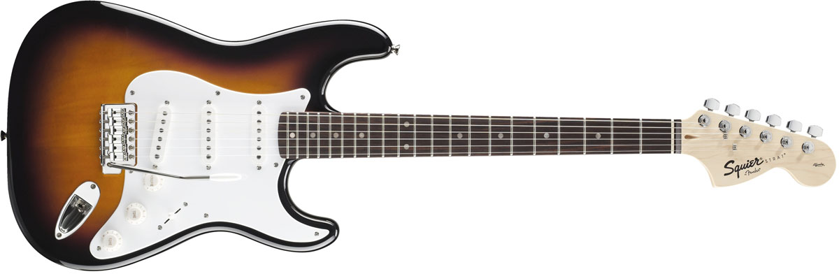 Squier by Fender / Affinity Stratocaster Brown Sunburst Rosewood スクワイヤー エレキギター
