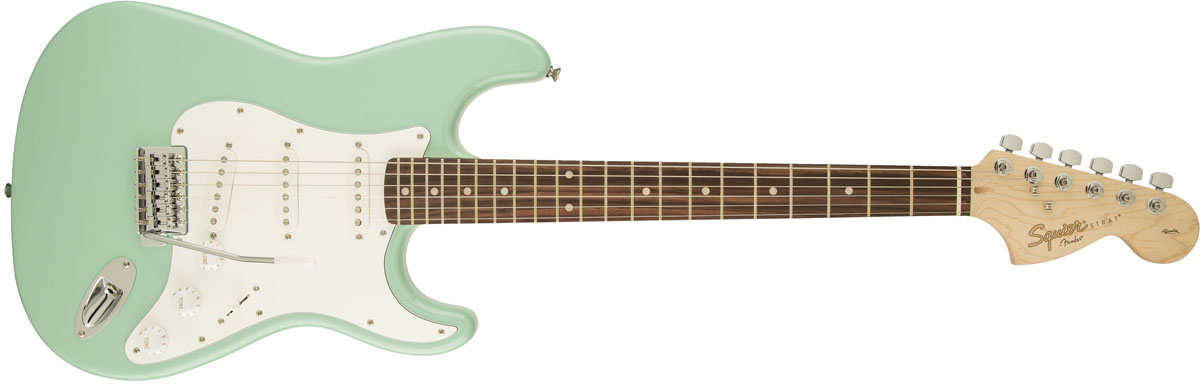 Squier by Fender / Affinity Stratocaster Surf Green Rosewood スクワイヤー エレキギター