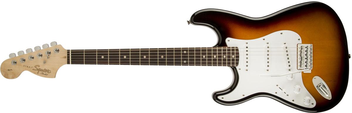 【タイムセール:7月2日12時まで】Squier by Fender / Affinity Stratocaster Left-Hand Brown Sunburst Rosewood スクワイヤー エレキギター