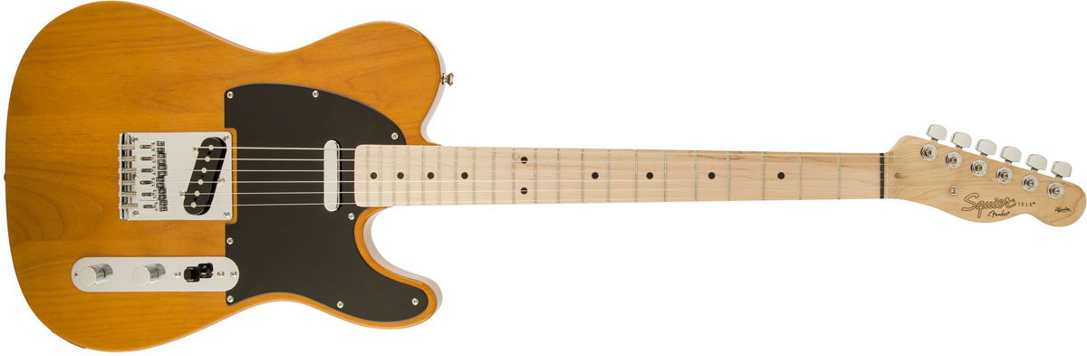 【タイムセール:29日12時まで】Squier by Fender / Affinity Telecaster Butterscotch Blonde Maple スクワイヤー エレキギター