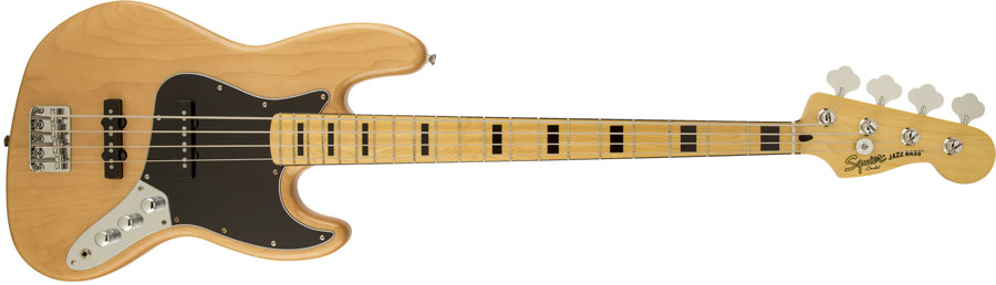 Squier / Vintage Modified Jazz Bass 70s Natural スクワイヤー エレキベース