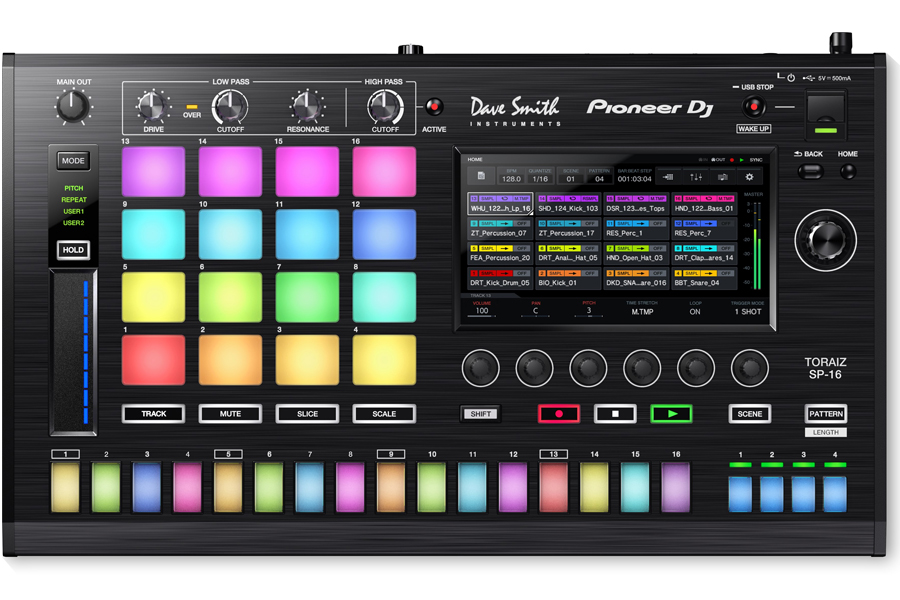 PIONEER DJ パイオニア / TORAIZ SP-16 PROFESSIONAL SAMPLER サンプラー (TSP-16)【PNG】