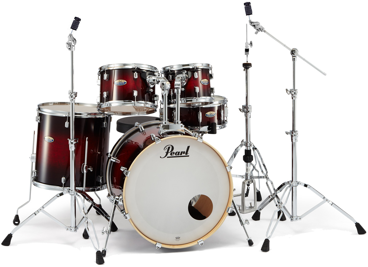 Pearl ドラムセット DECADE MAPLE STANDARD DMP925S/C-D #261 Gloss Deep Red Burst 【お取り寄せ商品】